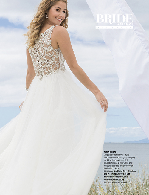 52992b56100 Maggie Sottero Phyllis · As seen in Bride and Groom Magazine Issue 87